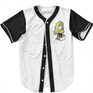 Marijuana Enthusiast Stoned Homer Simpson Awesome Baseball Jersey