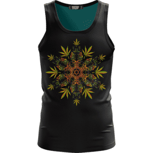 Marijuana Mandala Tiki Masks Artwork Dark Awesome Tank Top