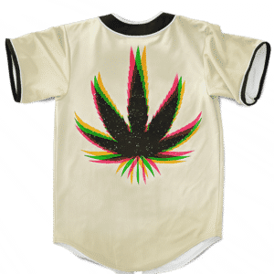 Marijuana Weed Trippy Colors Cool Awesome Baseball Jersey