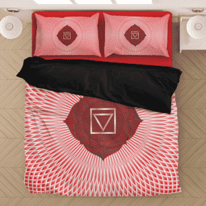 Muladhara Root Chakra Awaken Enlightenment Red Bedding Set