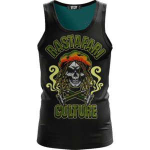 Rastafari Culture Reggae Skull Smoking Pipe 420 Ganja Cool Tank Top