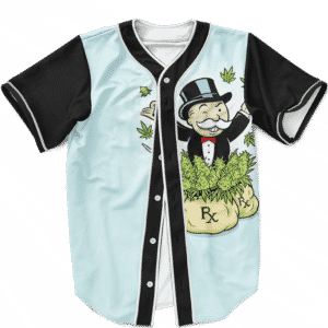 Rich Uncle Pennybags Making Dough Marijuana Baseball Jersey