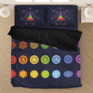 Seven Spiritual Chakras Different Symbols Zen Bedding Set