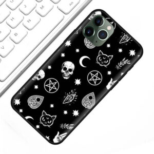 Skulls & Symbols Dope Minimalist Art Black iPhone 12 Case