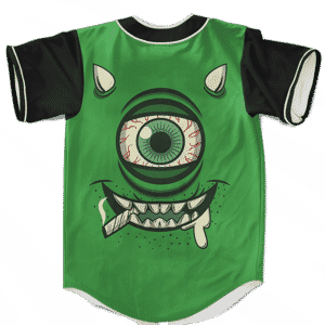 Stoner Mike Monsters Inc Dope Green Awesome Baseball Jersey