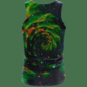 Trippy Galaxy Jimi Hendrix Smoking Joint 420 Marijuana Tank Top Back