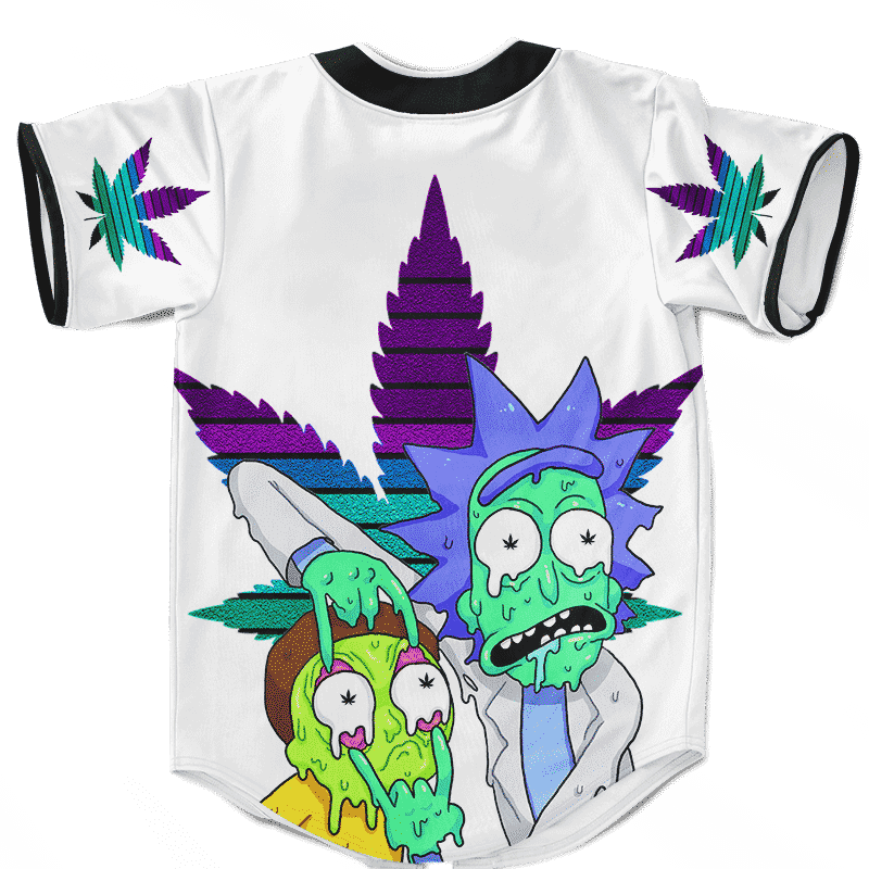 Weed Adventures of Rick and Morty Trippy 420 Baseball Jersey
