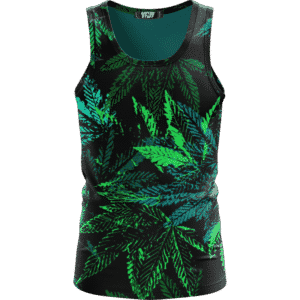 Weed Marijuana 420 Black All Over Print Cool Tank Top