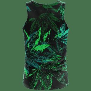 Weed Marijuana 420 Black All Over Print Cool Tank Top - Back