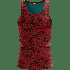 Weed Marijuana Leaves Red Pattern Cool Wonderful Tank Top