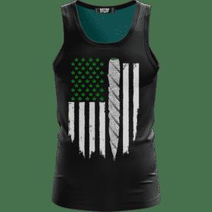Weed US Flag Joint 420 Marijuana Dope Ganja Tank Top