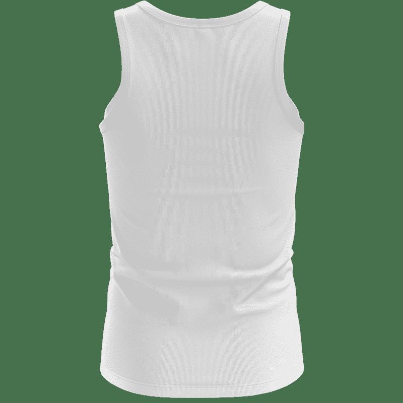 DBZ Goku Spirit Bomb Ganja Weed White Awesome Tank Top - back