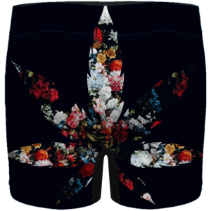 Floral Pattern 420 Marijuana Kush Leaf Weed Men's Underwear