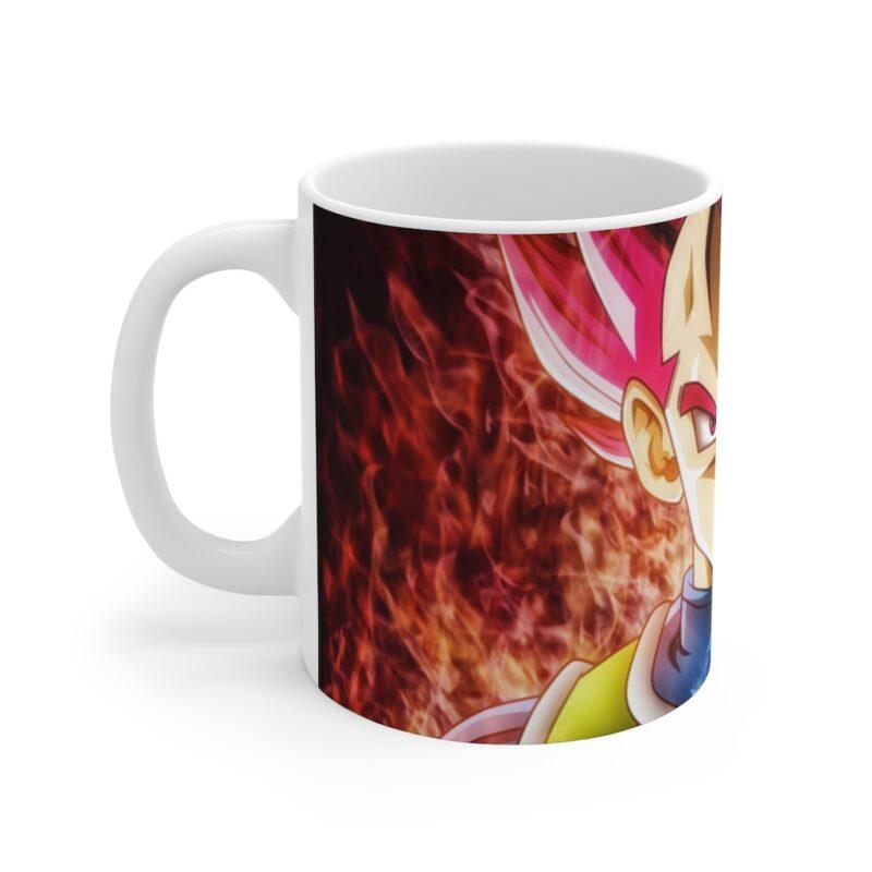 Dragon Ball Vegeta Super Saiyan Blue & Red Ceramic Coffee Mug