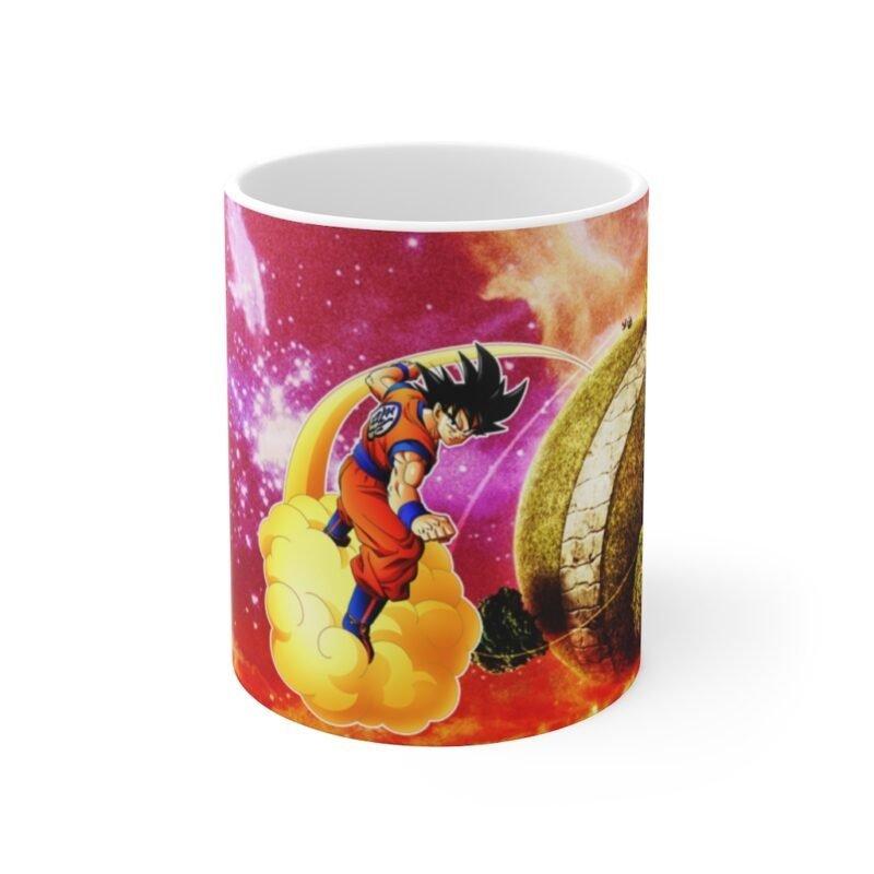 DBZ Goku Flying Nimbus Clouds Galaxy Cool Ceramic Coffee Mug