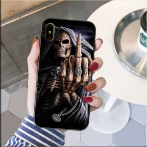 Badass Grim Reaper Fuck Off Dope Skull iPhone 12 Case