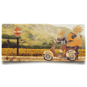 DBZ Goku And Gohan Motorbike Joy Ride Non-Slip Mouse Pad