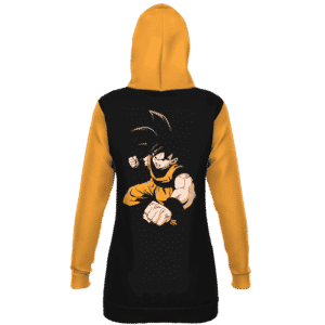 DBZ Goku Base Form Majestic Black Orange Hoodie Dress