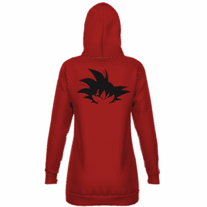 Dragon Ball Goku Silhouette Awesome Dark Red Hoodie Dress