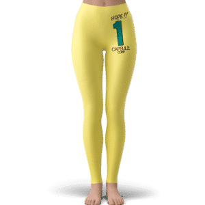 DBZ Hope Number One Capsule Corp Yellow Awesome Leggings