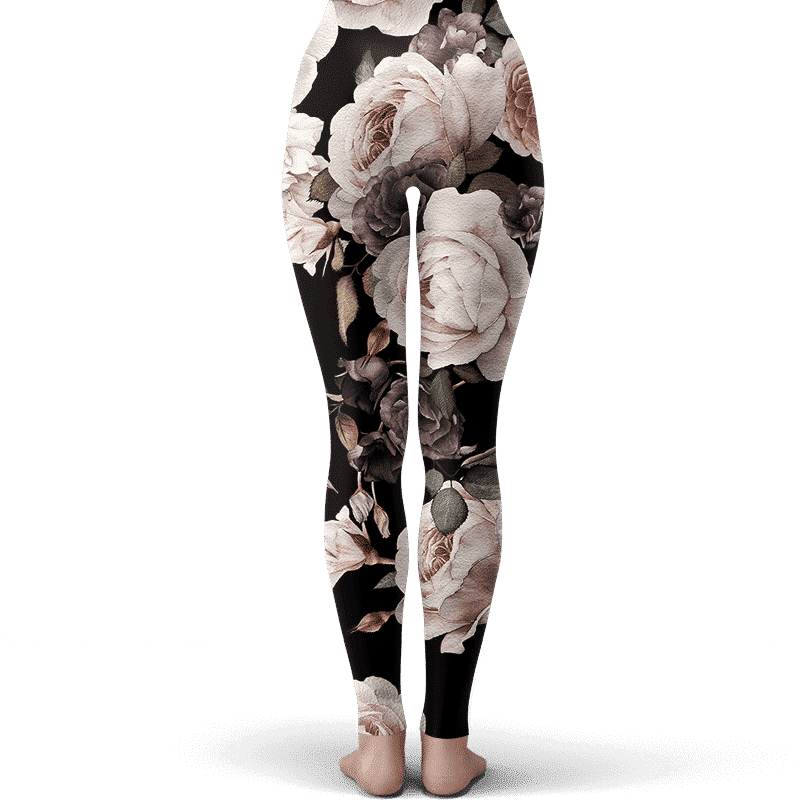 DBZ Kid Chi-Chi Cosplay Floral Pattern Awesome Leggings