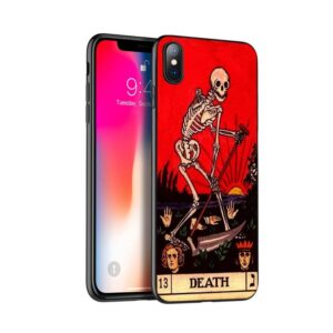 Death Tarot Card Skeleton Holding Scythe Cool iPhone 12 Case
