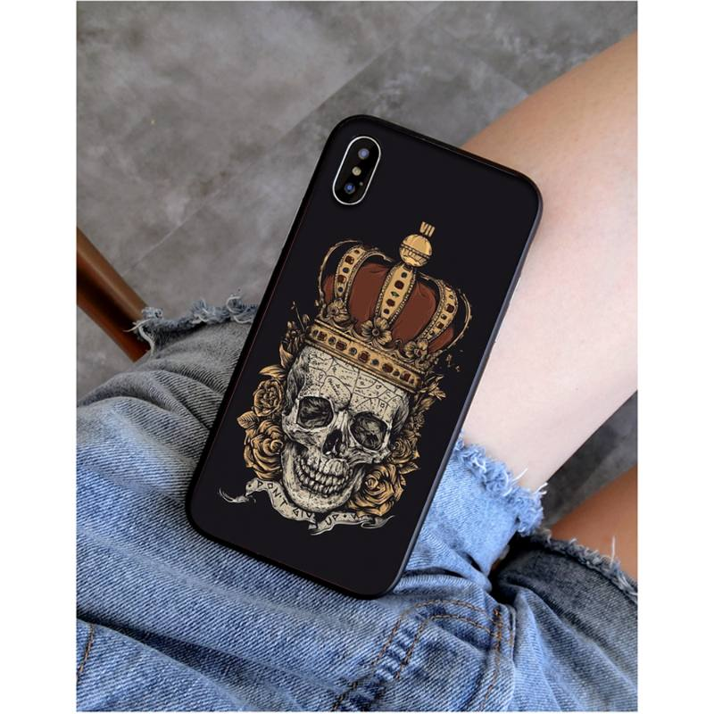 Dope Skull Wearing Royal England Crown iPhone 12 Case
