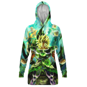 Dragon Ball Broly Goku Vegeta Legendary Green Hoodie Dress