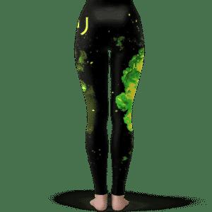 Dragon Ball Broly Silhouette Green Smoke Awesome Leggings