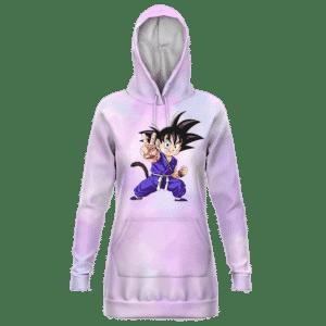 Dragon Ball GT Kid Goku Peace Sign Cute Hoodie Dress