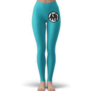 Dragon Ball Goku's Kanji Symbol Blue Awesome Yoga Pants