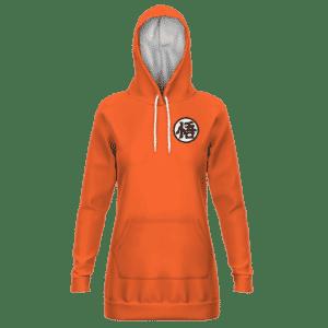 Dragon Ball Goku's Kanji Symbol Minimalist Orange Hoodie Dress