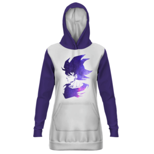Dragon Ball Handsome Goku White Purple Hoodie Dress
