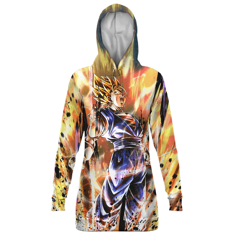 Dragon Ball Legends Vegito Charging Up Dope Hoodie Dress