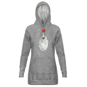 Dragon Ball Shocked Frieza In Cocoon Cute Gray Hoodie Dress
