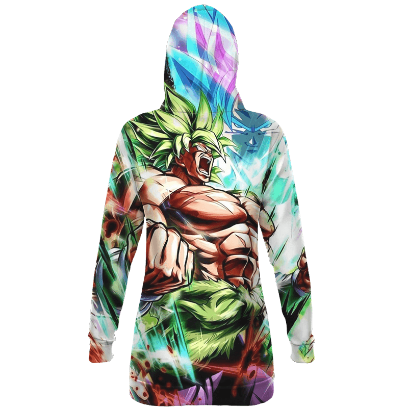 Dragon Ball Broly And Vegito Dope All Over Print Hoodie Dress