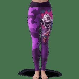 Dragon Ball Super Goku Krillin Frieza Purple Camo Leggings