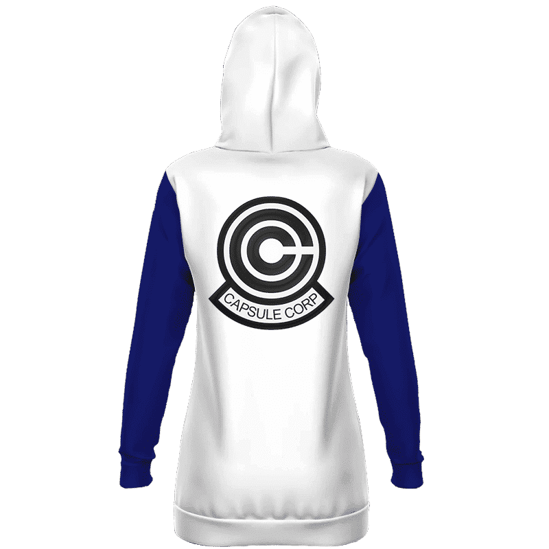Dragon Ball Teen Future Trunks Capsule Corp Cosplay Hoodie Dress