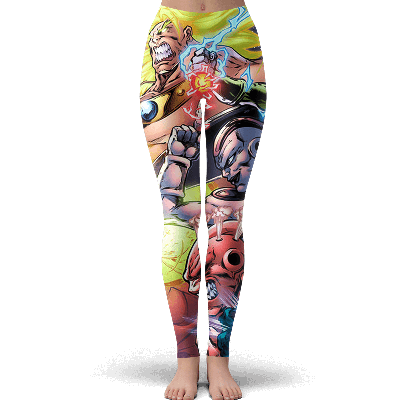 Dragon Ball Z Broly And The Villains Comic Style Yoga Pants