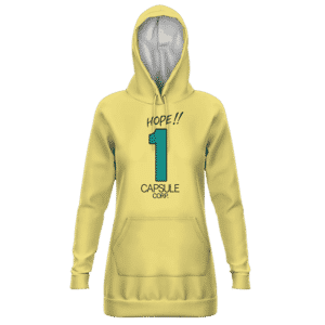 Dragon Ball Z Hope Capsule Corp Dope Yellow Hoodie Dress