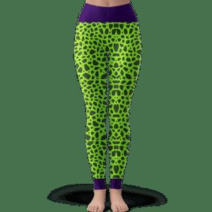 Dragon Ball Z Perfect Cell Pattern Cosplay Yoga Leggings