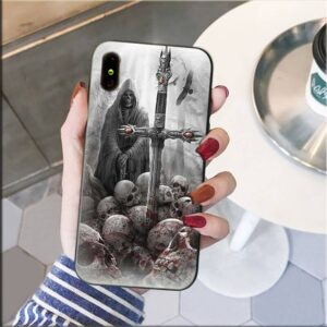 Grim Reaper Skull Collector Dope Gray iPhone 12 Case