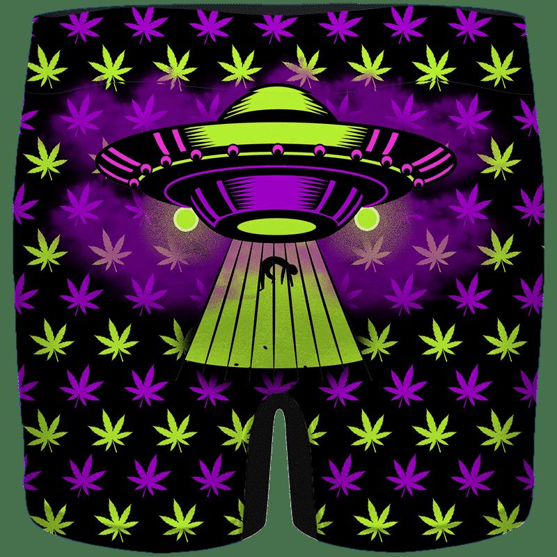 High as Hell Alien Abduction Art 420 Marijuana Men's Boxer