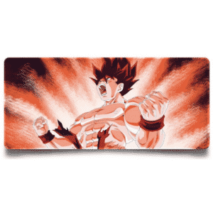 Inflamed Super Saiyan Goku Red Aura Extended Mouse Pad