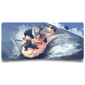 Kid Goku Bulma & Oolong Nimbus Cloud Ride Fan Art Mouse Pad