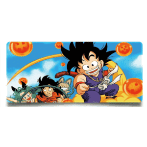 Kid Goku Nimbus Cloud With Bulma & Yamcha Non-Slip Mouse Pad