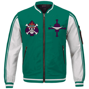 Portgas D. Fire Fist Ace Mera Mera Fruit Varsity Bomber Jacket