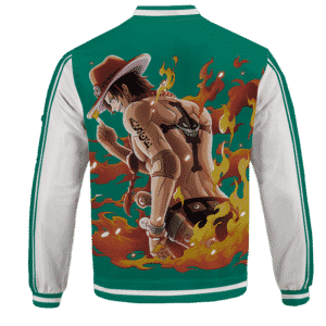 Portgas D. Fire Fist Ace Mera Mera Fruit Baseball Jersey - back