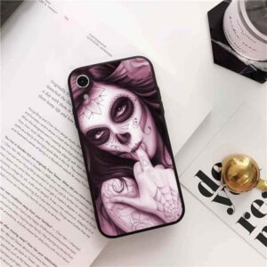 Seductive Woman Sugar Skull Makeup Awesome iPhone 12 Case
