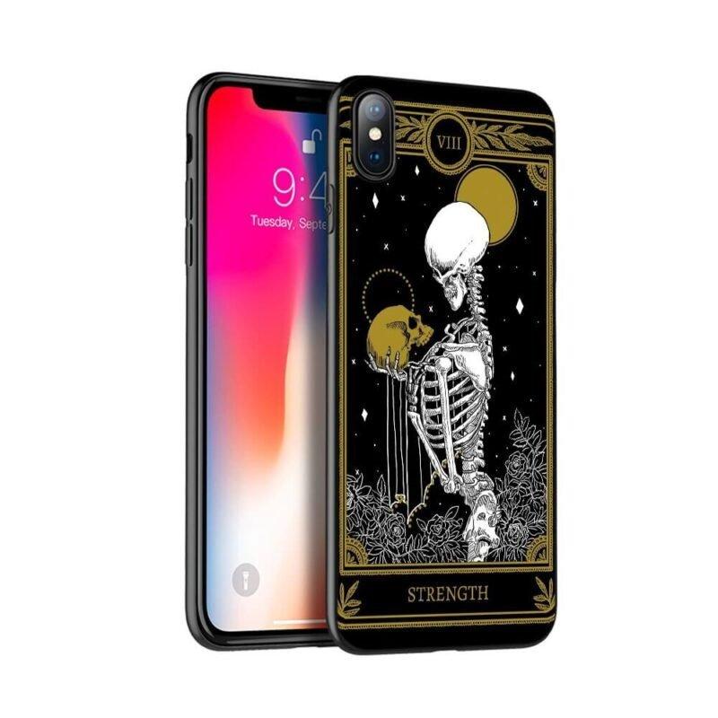 Strength Tarot Card Skeleton Holding Skull Dope iPhone 12 Case
